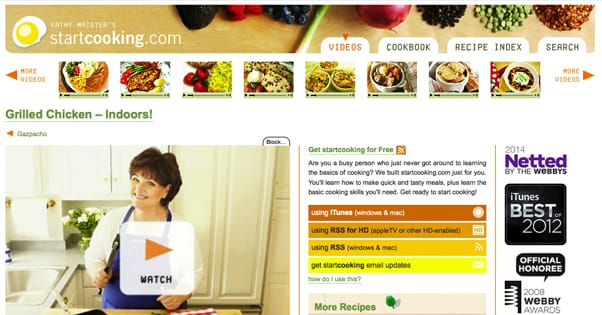 Cooking Video Blogs