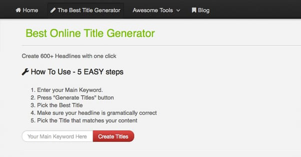 A List of Content Title Idea Generators That Actually Work