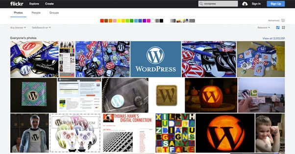 Wordpress Image Search Flickr