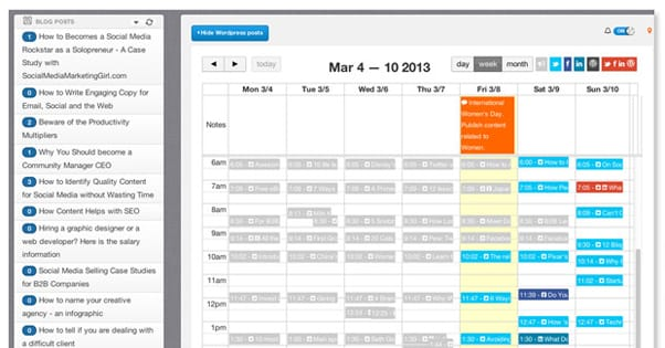 Blogging Content Schedule for Consistency