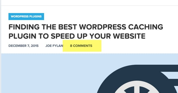 Comments on WordPress