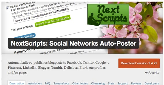 Social Networks Autoposter