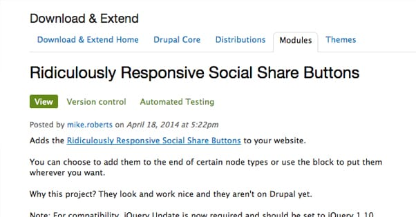 Responsive Social Share Buttons