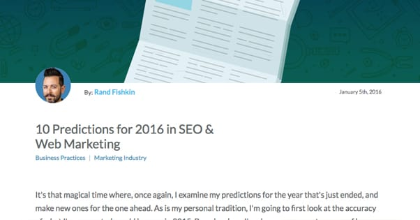Predictions for SEO 2016
