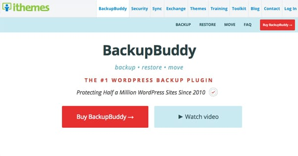 Backup Buddy Homepage