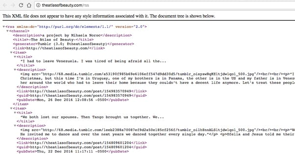 Example RSS Feed Chrome