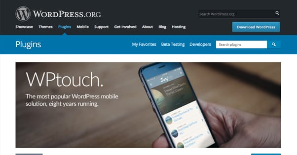 WPTouch on WordPress