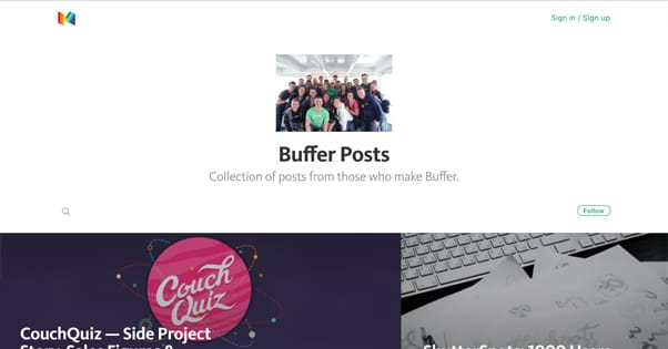 Buffer Posts Medium
