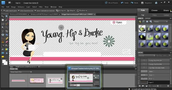 Blog Design Photoshop