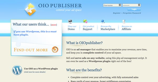 OIO Publisher Site