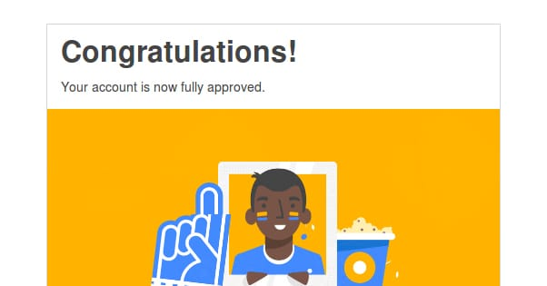 Approval Email AdSense