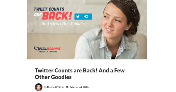 Tweet Counts Social Warfare
