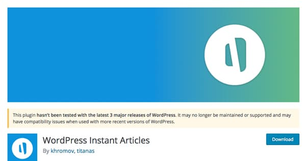 Wordpress Instant Articles Unofficial