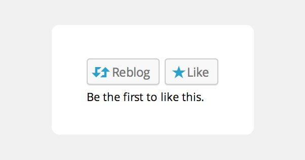 Wordpress Like and Reblog