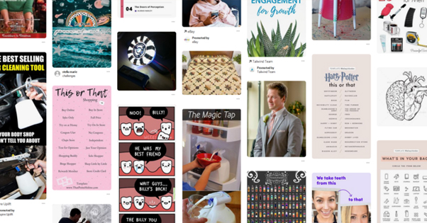 Example Pinterest Feed