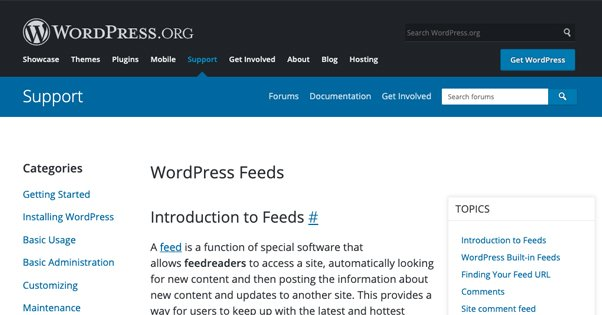Various Feeds in CMS Like WordPress