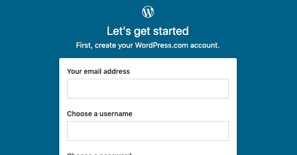 Wordpress.com Account