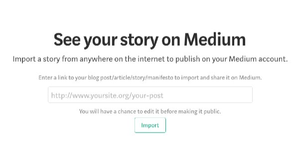 Article on Medium