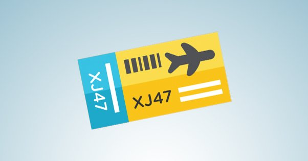Example Plane Ticket