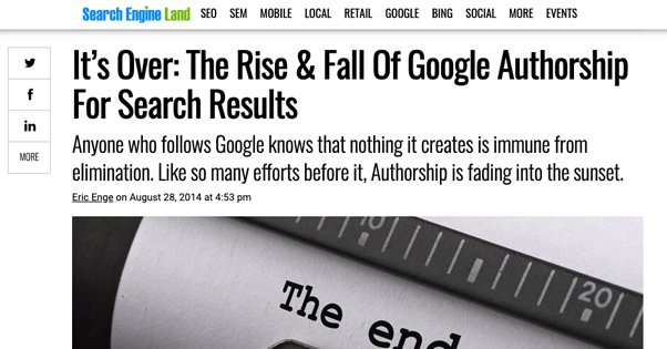 Google Authorship Changes