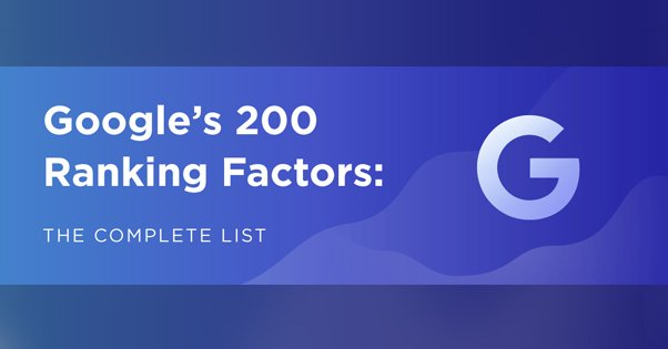Google Ranking Factors Illustration from Backlinko